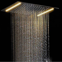 Ceiling Concealed LED Shower Head For Bathroom Faucet Shower Light 500*360mm Rainfall pommeau douche SPA Embedded Wall Mounted