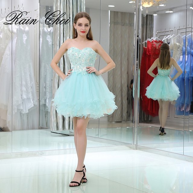 2018 Short Evening Dress Ball Gown Formal Party Prom Gowns Short ...