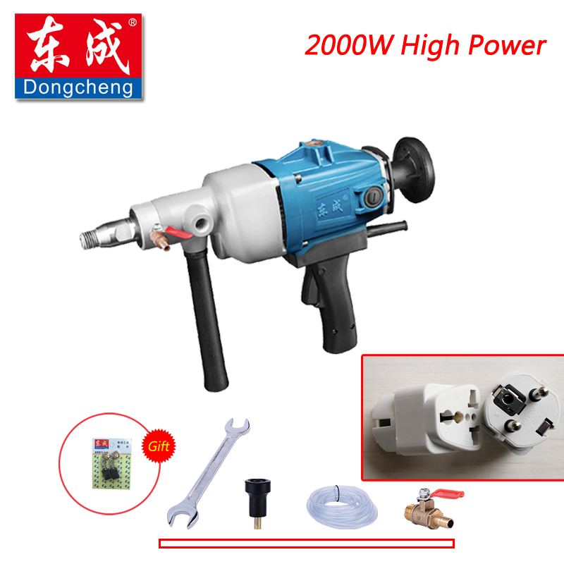 цена на 2017 New 2000W Diamond Drill 180mm Diamond Core Drill With Water Source (hand-held) For Concrete Wall Electric Drill