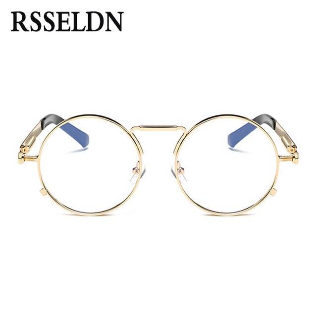 a7a89ba956 placeholder RSSELDN High Quality golden Round Glasses Frames Women Brand Eyeglasses  Frame Men Clear Lens Retro Classic