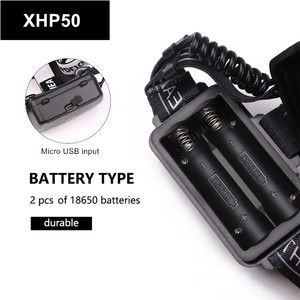 Image 2 - مصباح XHP70.2 XHP50.2 Led قوي كشافات التكبير رئيس مصباح يدوي الشعلة 18650 بطارية USB قابلة للشحن الصيد فانوس