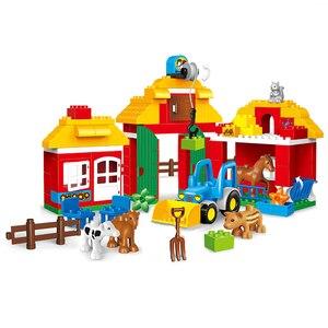 Image 2 - Blocos de construção de tijolos, compatível com duploed, casa para família, blocos de construção, diy, brinquedo de tijolos para crianças