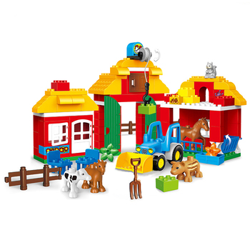 Girl Princess Large Size Blocks Sets Compatible LegoINGlys Duploed Family House Bricks Bricks Building Blocks Toys For Children 1