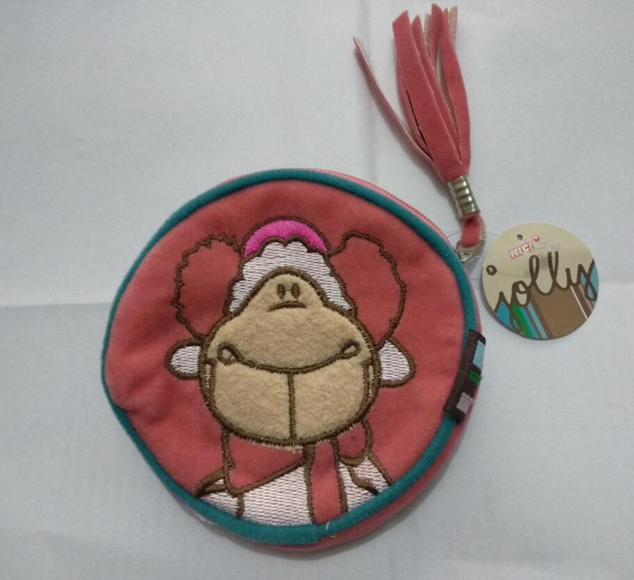 NICI animal de bande dessinée en peluche sac portefeuille armuff moutons motif porte-monnaie fille paquet d'argent enfant moneybag De Noël cadeau d'anniversaire 1 pc