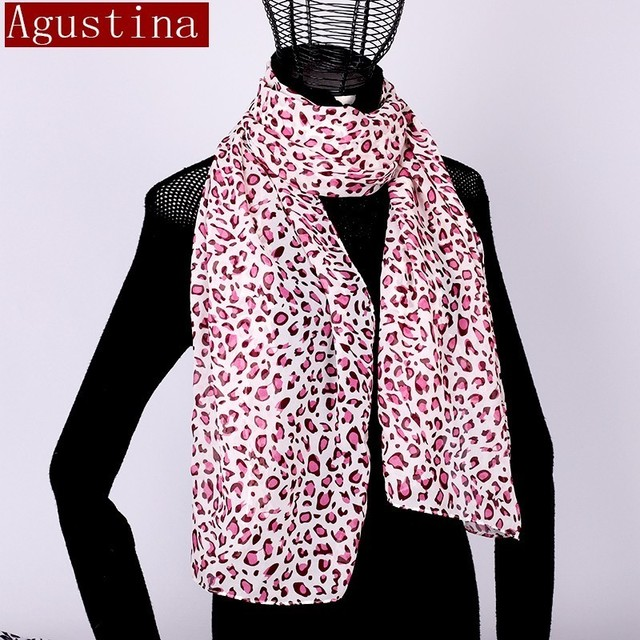 Women scarf chiffon leopard print sjaal poncho scarfs winter hijab shawl animal brand luxury satin ponchos capes coat warm schal 4