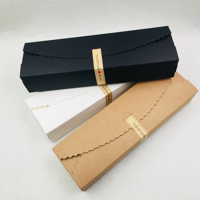 20pcs/lot Natural Brown Kraft Paper Packaging Box handmade Soap Packaging Box Wedding Favors Candy Gift Long Paper Box