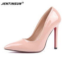 Women's Shoes New European&American Pointed Toe Fine Heels Shallow Mouth Singles Shoes Large Size Shoes Fashion High Heels