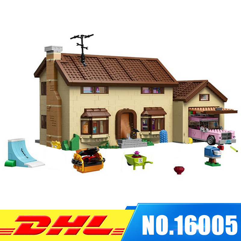 DHL LEPIN 16005 Simpson's family Kwik-E-Mart Building Blocks Bricks Set Assembled Toys Gifts Clone 71006 2018 moc dhl lepin 16005 simpson s family kwik e mart building blocks bricks set assembled toys gifts clone 71006