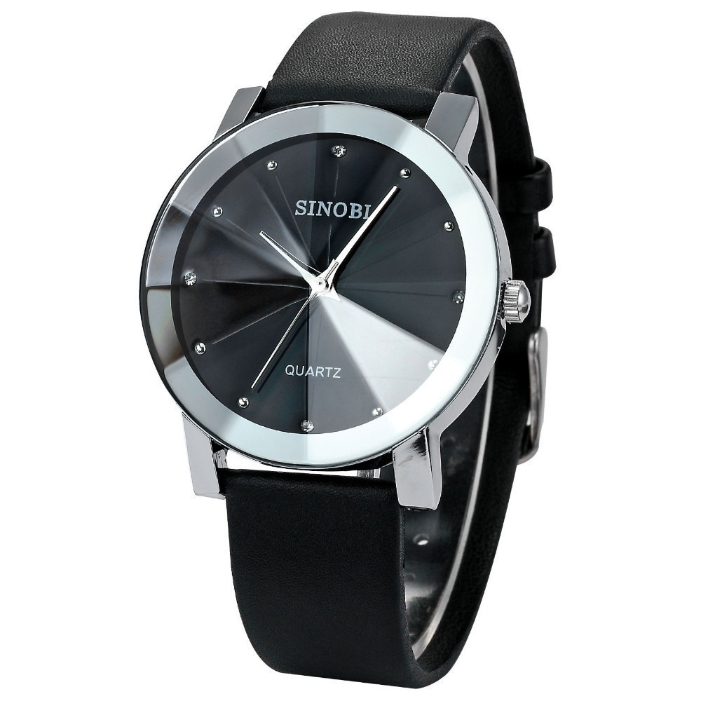 SINOBI Watch Women Watches Luxury Crystal Women's Watches Genuine Leather Ladies Watch Clock reloj mujer relogio feminino