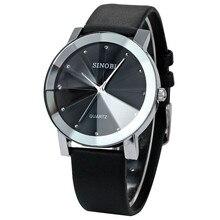 SINOBI часы Для женщин часы класса люкс кристалл Для женщин часы из натуральной кожи женские часы reloj mujer relogio feminino