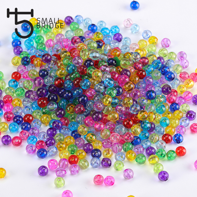 6mm Loose Round Acrylic Beads For Making Jewelry Women Diy Accessories  Perles Multicolor Smooth Plastic Beads Wholesale O102 7a68b38209de
