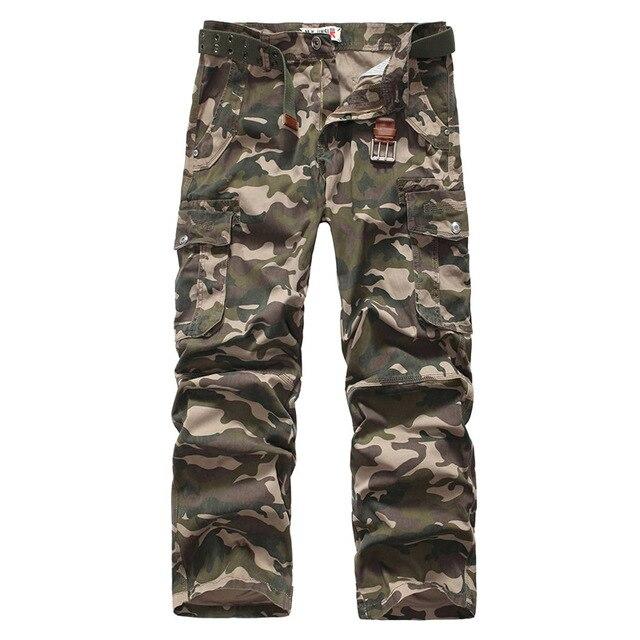 2016 камуфляж Брюки Мужчины мода новый Хлопок Повседневная одежда pantalon homme страх божий армия