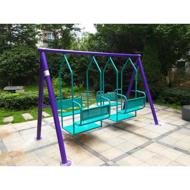 Galvanized Steel Children Outdoor Swing Antirust Garden Swing For Kids The  Best School Swing HZ