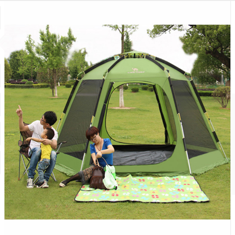 Family Picnic Camp Tent Automatic Tent 6 Person Double Layer Family Party Tents outdoor camping hiking automatic camping tent 4person double layer family tent sun shelter gazebo beach tent awning tourist tent