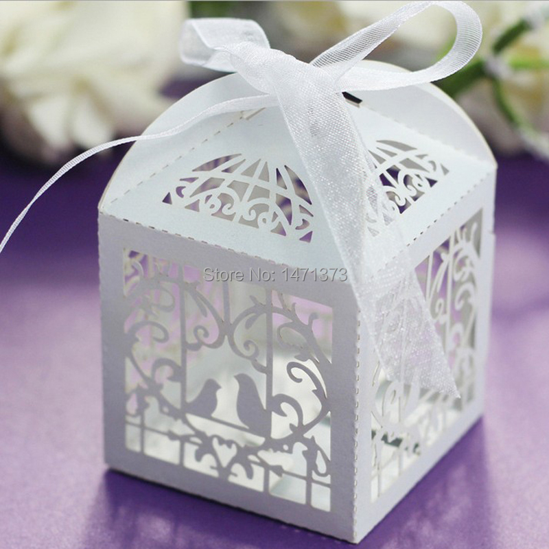 wedding invitations mariage 50pcs laser cut bird wedding favors candy boxes sweets box baby. Black Bedroom Furniture Sets. Home Design Ideas