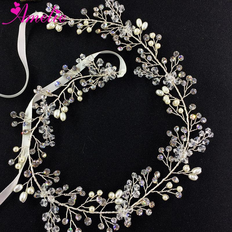 551e6812ea US $205.2 10% OFF|Aliexpress.com : Buy Handmade Crystal and Pearl Bohemia  Fashion Girl's Headband Wedding Bridal Pearl Hair Vine Wedding Jewellery ...