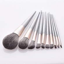 10 pcs Makeup Brushes Set For Foundation Powder Blush Eyeshadow Concealer Face Lip Eye Make Up Brush Cosmetics Beauty Tools professional slim 5pcs makup brushes set powder blush eyeshadow eyeliner face eyes brush make up cosmetics tools with box