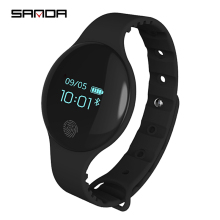 SANDA Smart Bluetooth 4.0 Pedometer Bracelet Watches Sport LED Digital Soft Silicon Smart Watch for IOS Android Message Reminder