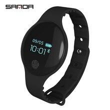 SANDA montre connectée de Sport, Bluetooth 4.0, podomètre, numérique LED, en silicone souple, rappel de messages, pour IOS et Android