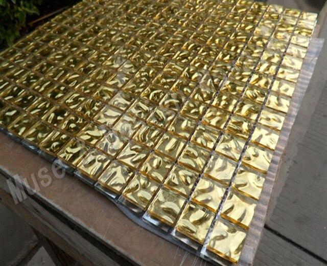 Mosaico di vetro mosaico foglia oro rosso argento colore