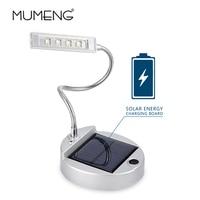 mumeng LED Solar Book Light 4 leds USB Flexible Table Lamp 0.24w Student Portable Reading Light Solar USE rechargeable Desk Lamp