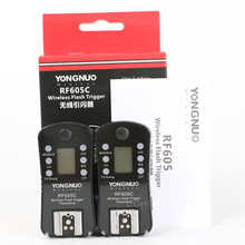 Yongnuo RF605 RF 605 RF 605 = RF 602 + RF603II LCD Đèn Flash Không Dây Kích Hoạt Cho Canon 550D 1200D Nikon D7200 D5300 Camera