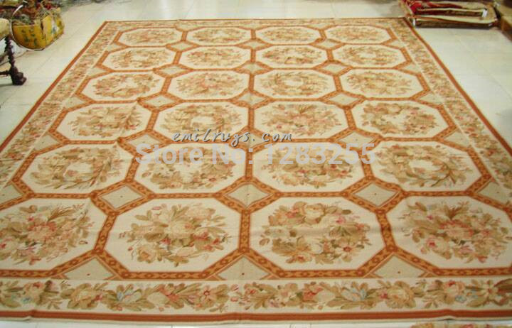 100% Wool Hand Stitched Alfombra Tapetes De Sala Tapetes De Quarto [ Free  Shipping] Needlepoint Rug 10 * 13.5 Feet 305 411cm ]