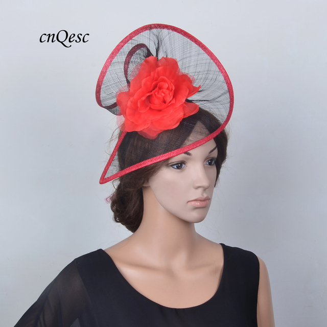 aed51d8b 2019 NEW Ladies Sinamay fascinator Wedding hat fedora with silk flower for  Kentucky Derby,races,church,party