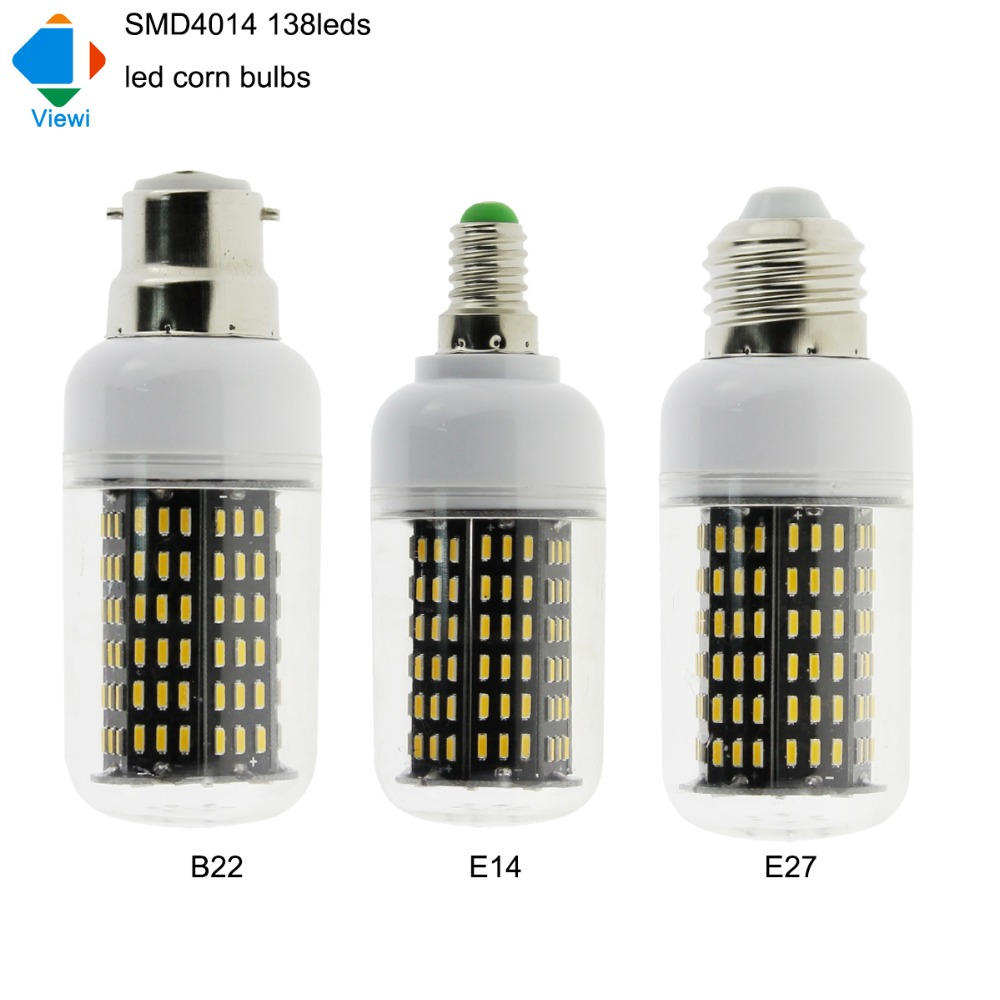 5X e27 led bulbs 220v 110v bulb light smd4014 138 leds high brightness E 14 B22 corn lamp warm white 2800K 360 degree lampadine