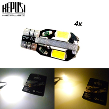 4X Canbus LED T10 Car Light 194 W5W Auto Bulbs Styling White For Honda Acura Spirior City Stream Fit Accord CR-V/CRV
