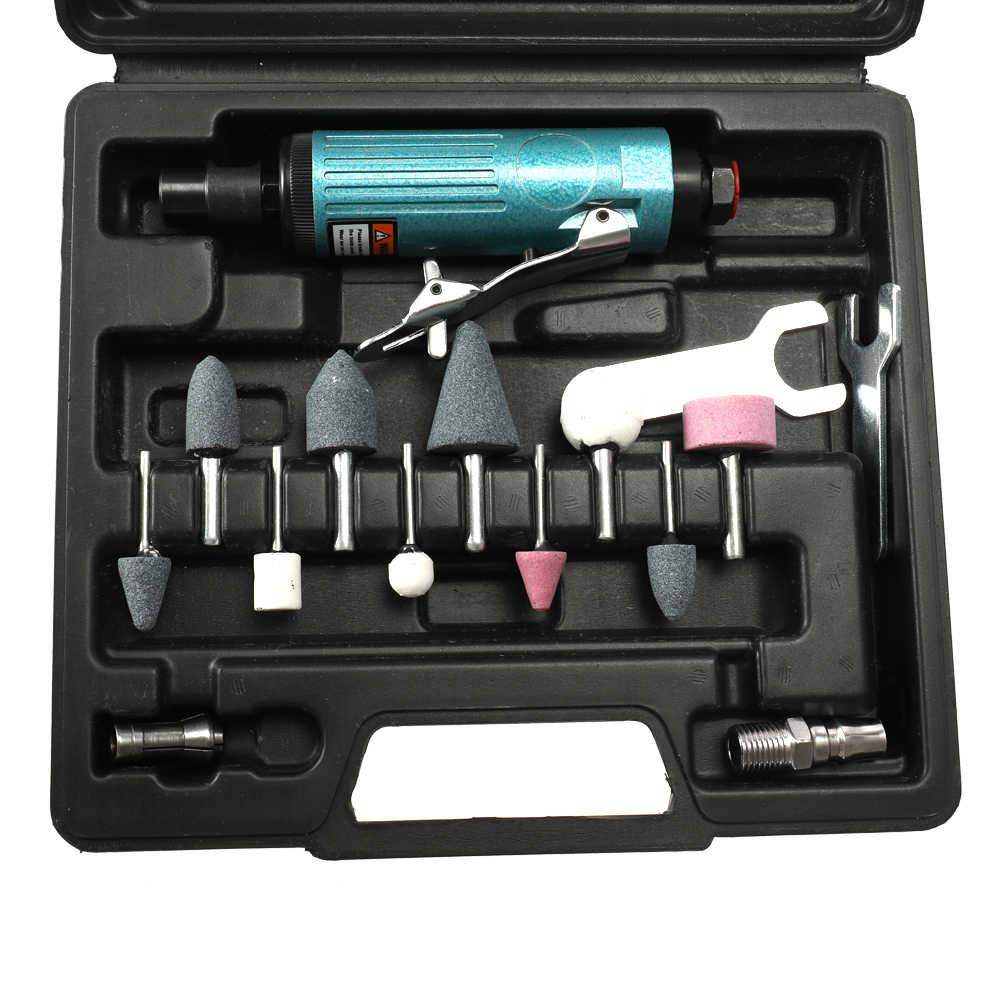 16pcs Air Die Grinder Suit Metal Engraving Polishing Machine Grinding Mill Kit Pneumatic Tool Set