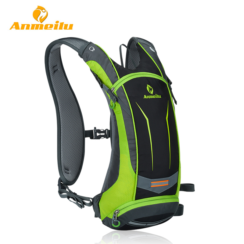 ANMEILU Waterproof Sports Backpack Rucksack + Water Bag Outdoor Cycling Climbing Hiking Shoulders Bag Men Travel Bags Camelback