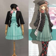 Japanese Anime Amnesia Heroine Uniform Cosplay Costume Socks Full clothing set