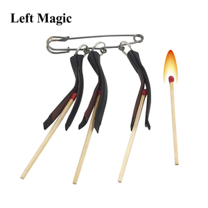 Image 1 - Multi Lit Match Fire Magic Tricks Three Clip Matches Pull Burning Stage Magic Props Accessories Gimmick