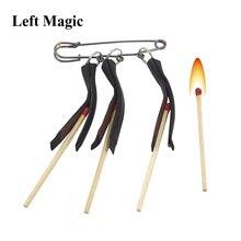 Multi Lit mecz ogień magiczne sztuczki trzy klipy mecze Pull Burning Stage magiczne rekwizyty akcesoria sztuczka