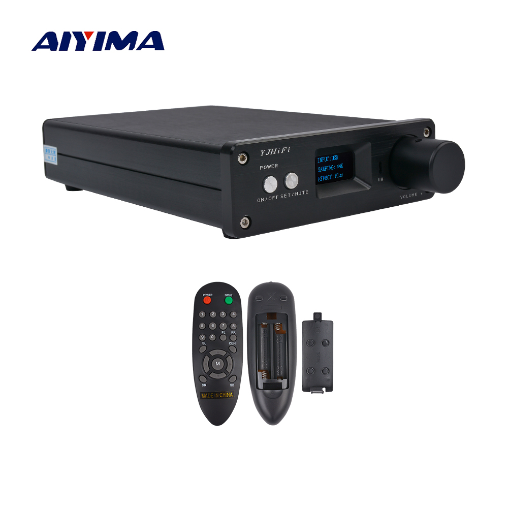 AIYIMA OLED 2.1 Digital Power Amplifier USB/Optical/Coaxial Input 24BIT 192K Audio Amplificador STA326 PCM2706 AK4113 25W*2+50W