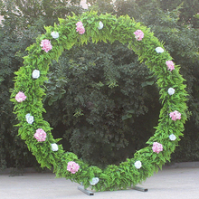 Wedding Arch Round Metal Party Decoration Road Leads Flower Door Backdrop Frame Stand Decor Props