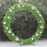 Wedding Arch Round Metal Arch Party Decoration Road Leads Flower Door Backdrop Frame Stand Wedding Decor Props