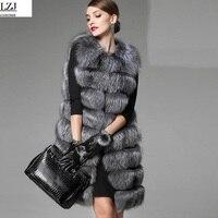 2017 Real Fox Fur Vest Female Winter Autumn Genuine Leather Fox Fur Coat Lady Gilet Waistcoat Natural Fur Vest Winter For Women