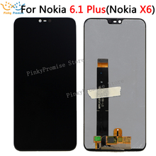 "For 5.8"" Nokia X6 2018 LCD Display Touch Screen Digitizer Assembly For Nokia X6 for Nokia 6.1 Plus LCD Screen Replacement Parts"