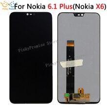 """Voor 5.8 """"Nokia X6 2018 Lcd Touch Screen Digitizer Vergadering Voor Nokia X6 voor Nokia 6.1 Plus LCD screen Vervangende Onderdelen"""