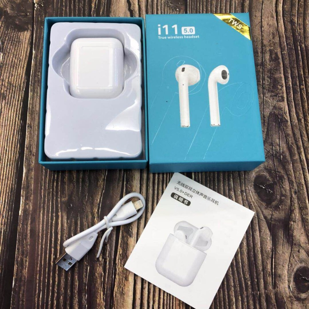 Wireless headset i11 Bluetooth Tws 5.0 wireless charging touch binaural sports earbug for iOS smart Android phone