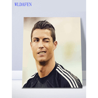 Framed Wall Decor Pictures Painting By Numbers Hand Painted On Canvas Painting Real Madrid Ronaldo Abstract