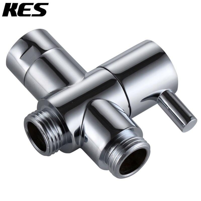 KES PV4 SOLID BRASS 3-Way Shower Arm Diverter Valve for Handshower Universal Showering Components,Chrome/Brushed Nicke(PV4-2)l