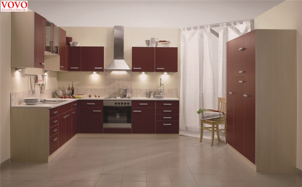 Easy modern design kitchen in matte red color - Online Get Cheap Easy Kitchen Cabinets -Aliexpress.com Alibaba Group