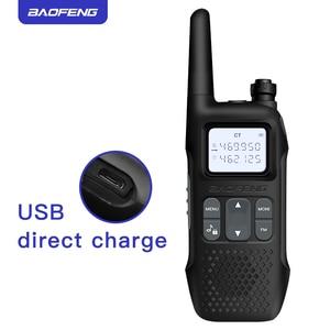 Image 1 - 2pcs baofeng mini walkie talkie portable cb radio R8 2 way radio walky talky emisoras boafeng ham comunicador radio FRS GMRS