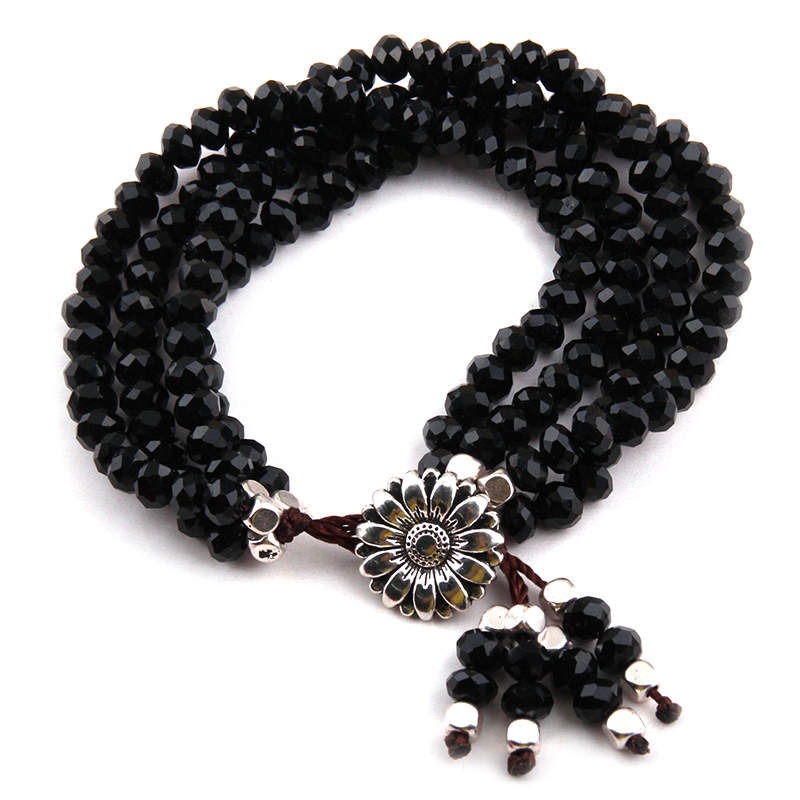 Free Shipping MOODPC Energy Bracelets Beautiful Fashion 4 Strands Crystal Charm Bracelet