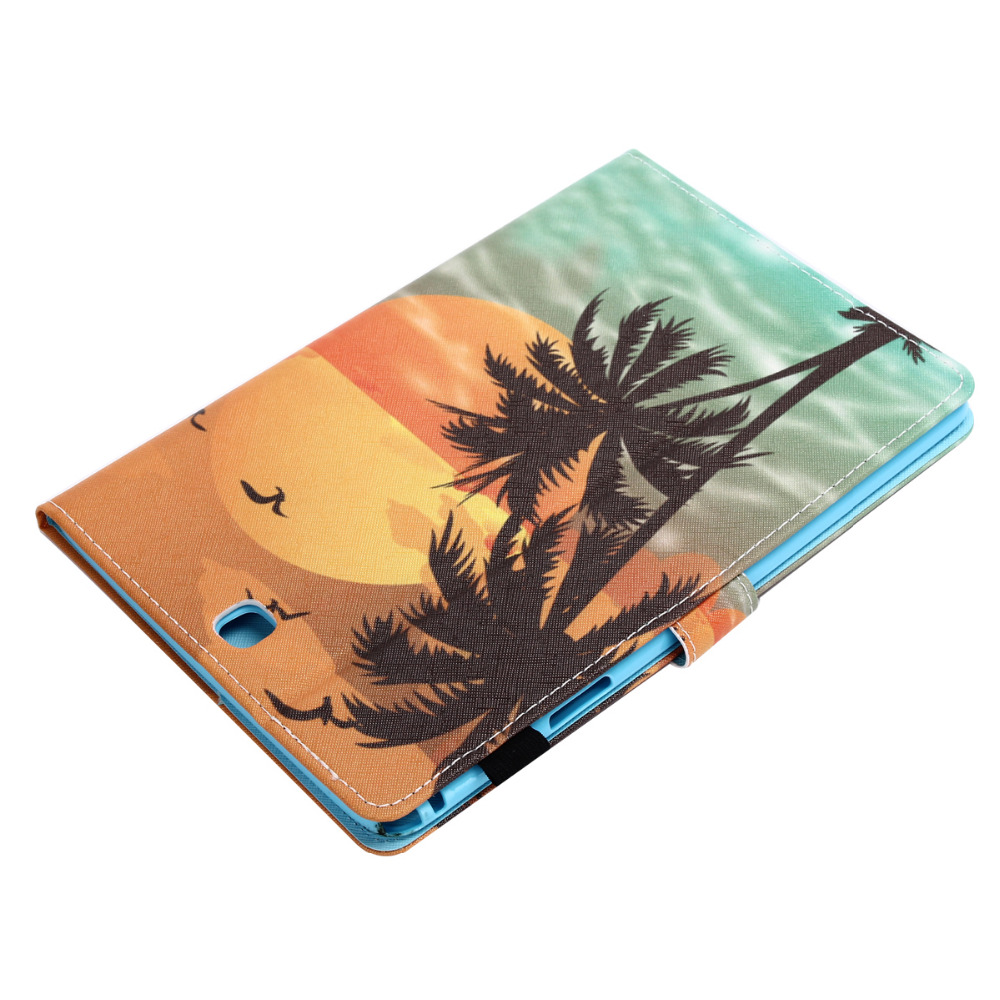 Ultra Slim Magnet Smart Sleep Print Stand Leather Cover Case For Samsung Galaxy Tab A 9.7 SM-T550 SM-T551 SM-T555 T550 P550 P555 bf luxury painted cartoon flip pu leather stand tablet case for funda samsung galaxy tab a 9 7 t555c t550 sm t555