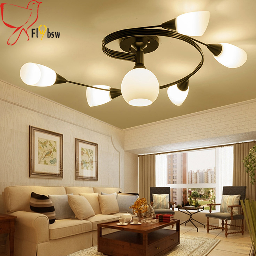 Nordic Country Living Room Ceiling Light Modern Simple 4 6 Creative Iron Rotary Flower Bedroom Restaurant Led Lamp In Lights From