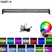Marloo 240 واط 42 بوصة RGB Led قضيب مصابيح عملي APP بلوتوث التحكم ستروب متعدد الألوان ل الطرق الوعرة سيارة جيب قارب القيادة سيارات